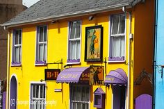 Brightly Painted Exterior of a Bed and Breakfast Building, Kinsale, County Cork, Republic of Ireland.