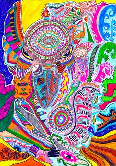 Pajarraco Doddle Art, Psychedelic Art, Art Journaling, Trippy, Colorful, Artist, Art Diary, Artists, Performing Arts