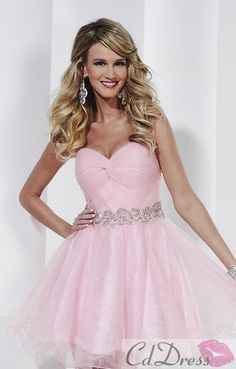 Short Strapless Sweetheart Babydoll Dress