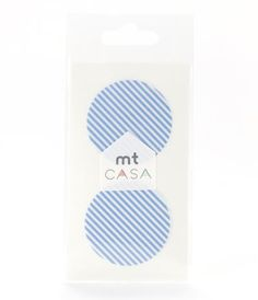 MT Casa Round Seal, 50mm - STRIPE BLUE - Dots 50mm - Masking Tape MT Casa - Telegram Paper Goods
