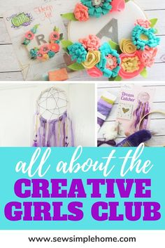 The best craft kits for girls and tweens with the Creative Girls Club kit. Diy Crafts For Kids Easy, Simple Crafts, Crafts For Girls, Diy For Girls, Kids Diy, Kid Crafts, Girls Club, Bedroom Inspiration, Craft Kits