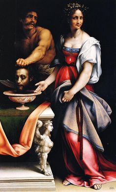 Salome. Daughter of Herodias. 1515. Cesare da Sesto.