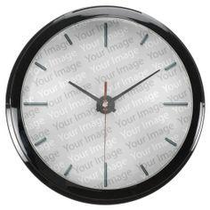 Your Image Aqua Clock & Numeral Options