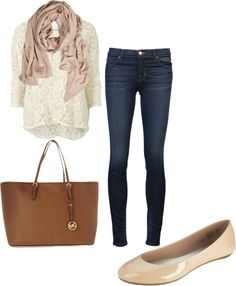 A fashion look from December 2012 featuring lace sleeve shirt, skinny fit jeans and flat heel shoes. Browse and shop related looks. Summer Wear, Spring Summer Fashion, Autumn Winter Fashion, Napa Style, Fall Fashions, Cool Style, My Style, Style And Grace, Weekend Wear