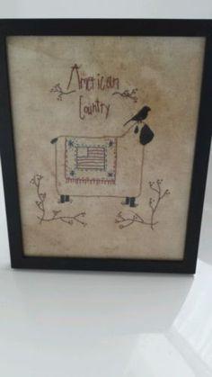 primitive embroidery picture
