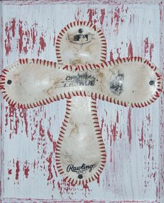 Baseball Cross Plaque by ToodleBugsBoutique on Etsy, $18.00