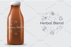 Herbal Blend | Logo Template by REDVY on @creativemarket