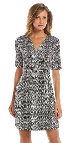 Keep it comfy and professional in a flattering and easy wrap dress.
