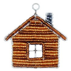 Fathers Day Gift Idea - Beaded Beadworx Keyring, Log Cabin| Grass Roots Creations