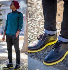 Muji Beanie, Zara Shirt, Topman Jumper/Chinos, Cole Haan Shoes More in: pinterest.com/SrKlauss/boards/ ...