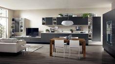 cuisine ouverte sur salon de design italien moderne - Salon Salle A Manger Cuisine Ouverte
