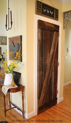 DIY Farmhouse Barn Wood Style Door Makeover!!