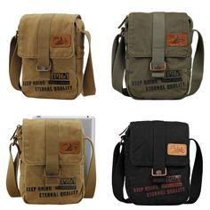 26$* BEST QUALITY Men's Womens Casual Canvas Messenger Shoulder Bag School Satchel Sling Bag (GY04) #Canvas #bag #casual #vintage #fashion