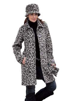 Roamans Women's Plus Size Big Button Fleece Jacket