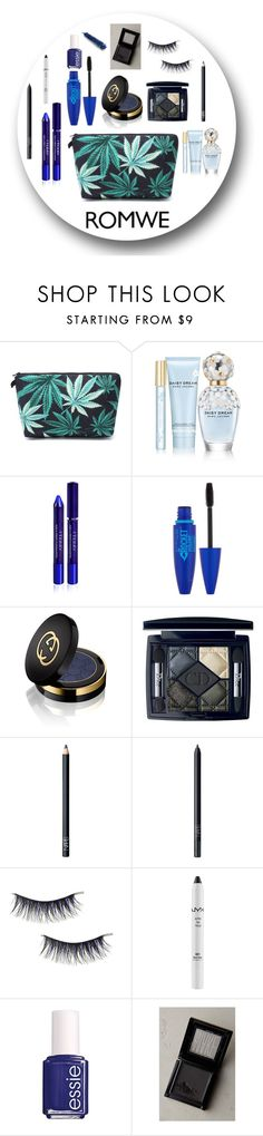 """Black and blue makeup"" by fashionlovefourteen ❤ liked on Polyvore featuring Marc Jacobs, By Terry, Maybelline, Gucci, Christian Dior, NARS Cosmetics, NYX, Essie, Make and Dr.Hauschka"