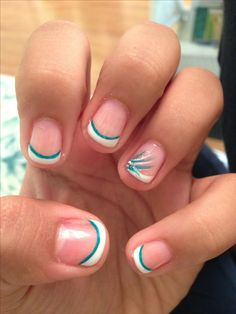 French manicure,with design