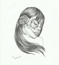 sugar_skull_lady_in_wind_by_sasan_ghods-d49u1vt.jpg (858×931)