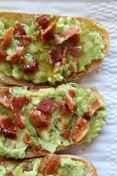 Easy Avocado- Bacon Toast recipe - from http://RecipeBoy.com