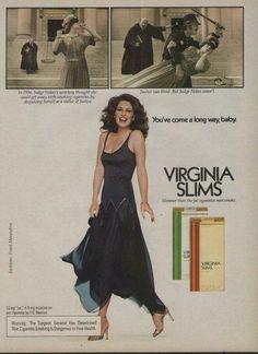 1979  Cristina Ferrare 80s Ads, Old Advertisements, Retro Advertising, Fashion Advertising, Cigarette Men, Vintage Cigarette Ads, Funny Vintage Ads, Vintage Humor, Famous Ads