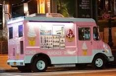 Ice cream truck at the office