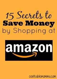 Want to save money on gifts this year by shopping online?  Check out these 15 Secrets to Save Money at Amazon to get the biggest savings with your online shopping.