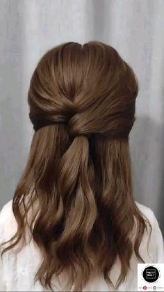 Hair Tutorials For Medium Hair, Medium Hair Styles, Curly Hair Styles, Hairstyle Tutorials, Ponytail Hairstyles Tutorial, Hairstyle Ideas, Easy Hairstyles For Long Hair, Easy Wedding Hairstyles, Hairstyles For Women