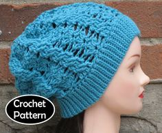CROCHET HAT PATTERN Pdf Instant Download - Flora Cabled Slouchy Hat Womens Teen - Permission to Sell