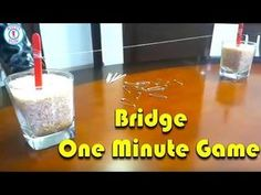 Bridge One Minute Game Kitty Party Games, Kitty Games, Cat Party, Games For Kids Classroom, Activities For Kids, Minute To Win It Games, Paper Crafts Origami, Family Games, Fun Games
