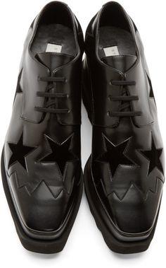 Stella Mccartney Black Platform Elyse Shoes Black Lace Shoes 4997438ba