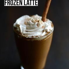 Pumpkin Spice Frozen Latte Recipe - Fit Foodie Finds & ZipList