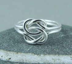 Sterling Silver Love Knot Ring / Celtic Knot by fallingleafjewelry