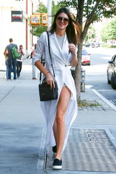 954642b261b2 Kendall Jenner shows her stylish edge in billowy white dress to hit the  shops with best friend Hailey Baldwin.