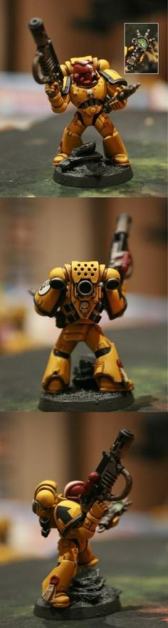 Auspex, Fist, Imperial, Imperial Fists, Meltagun, Purity Seal, Sergeant, Space Marines, Warhammer 40,000
