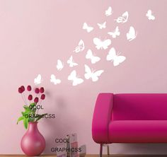 Beautiful butterflies decal set Vinyl Wall Decal by coolgraphicss, $25.00