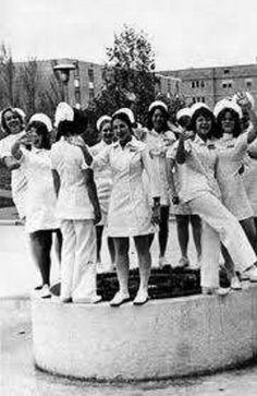 Vintage nurses, circa 60's to 70's. 50 Vintage Photos of Nurses Being Awesome #Nursebuff #Vintage #Nurse
