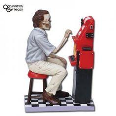 Gambler Skeleton Figurine
