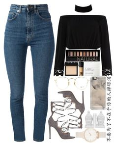 """""""August 21st, 2016"""" by inesdinis6 ❤ liked on Polyvore featuring Yves Saint Laurent, River Island, Gianvito Rossi, MAC Cosmetics, Forever 21, NARS Cosmetics, Ray-Ban, Casetify, Olivia Burton and Three Hands"""