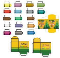 Crayon Box Template * 1500 free paper dolls at Arielle Gabriel\'s The ...