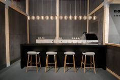 Form barstools and Amp lamps at Maison et Objet in Paris