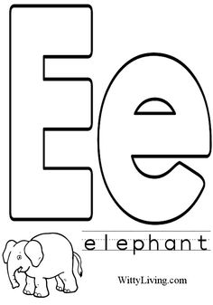 Coloring Pages Letter E