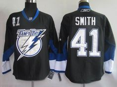 Tampa Bay Lightning 41 Mike SMITH Black Jersey
