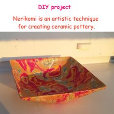 Nerikomi is a Japanese #pottery technique that allows to make unique items for your #homedecor .This #diy instruction is suitable for beginners.