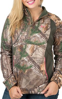 Under Armour Women's UA Realtree Camo Armour Fleece 1/4 Zip Jacket