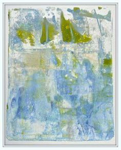 Green Sails -- I've been on a roll with the gelli plate the last few days. These were done on 140 lb. cold press watercolor paper. I used Golden heavy body acrylics. I added the frames in Picasa photo editor. I love seeing them framed! With these, I can really see how inspired I am by the land and waterscapes that surround me here in BC.  -©Maureen;Asking a Shadow to Dance
