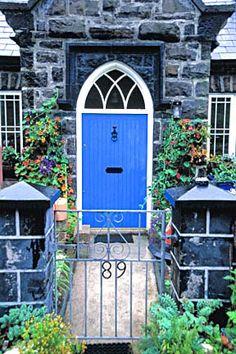 Blue Door Irish Cottage; I painted my front door this color - one of my favorites