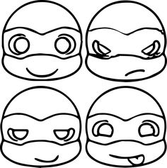 cute ninja turtle head coloring page