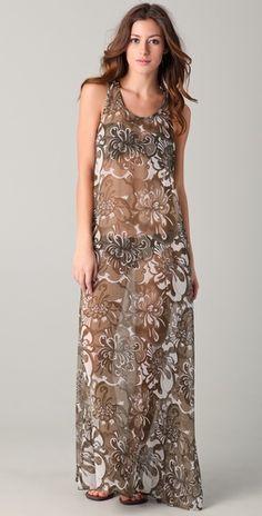 Mikoh French Riviera Silk Maxi Dress - perfect for beach... #maxidress