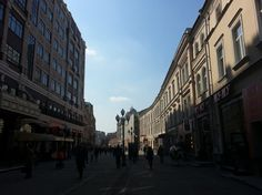 Old Arbat street is a pedestrian street in the centre of Moscow.
