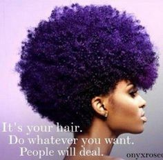 """Say it loud...I'm Black and I'm proud"" love this afro and color"