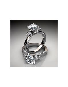 Pave Vintage Style Round Diamonds with a Floral design
